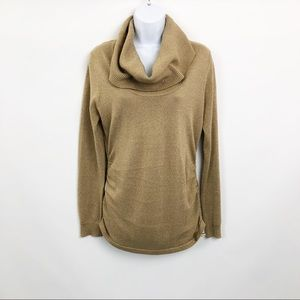 Michael Kors Sweater Gold Holiday Cowlneck
